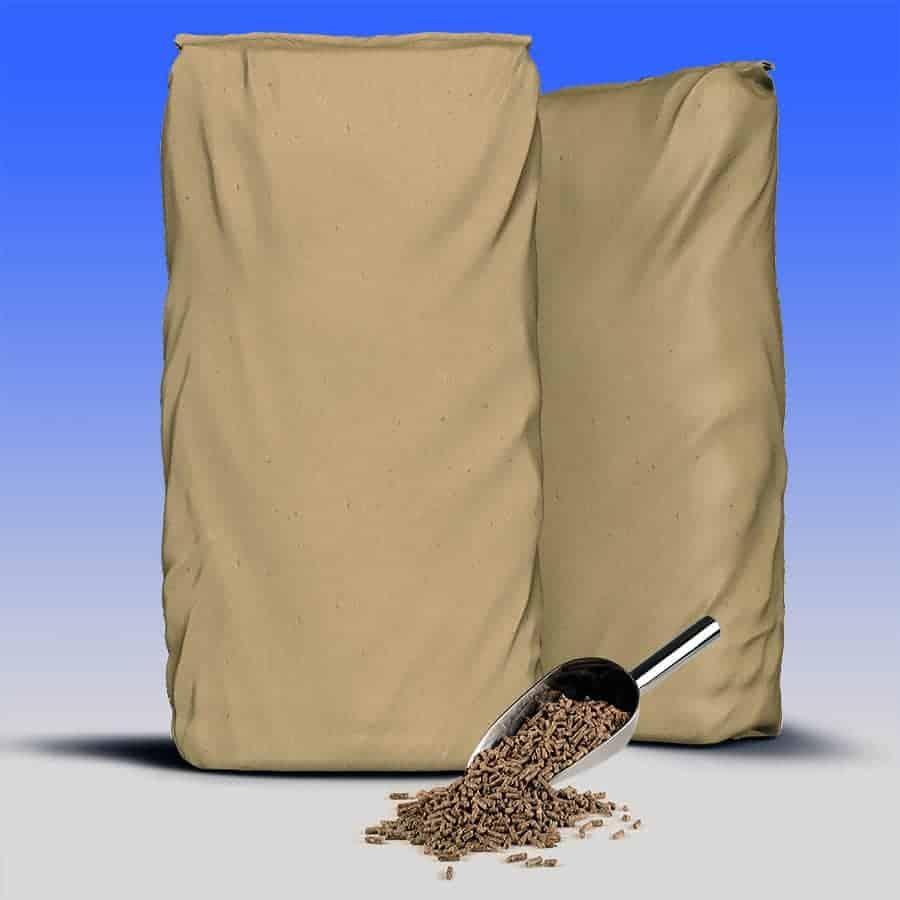 Bags of goat fattening pellets